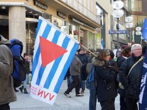 VVN-Mitglieder bei den Protesten gegen die NATO-Sicherheitskonferenz im Februar 2015 in München. Foto: Metropolico.org (CC BY-SA 2.0)