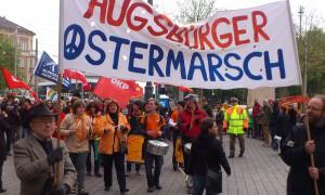 Schon in den vergangenen Jahren (Foto: 2014) wurde Ostern in Augsburg demonstriert