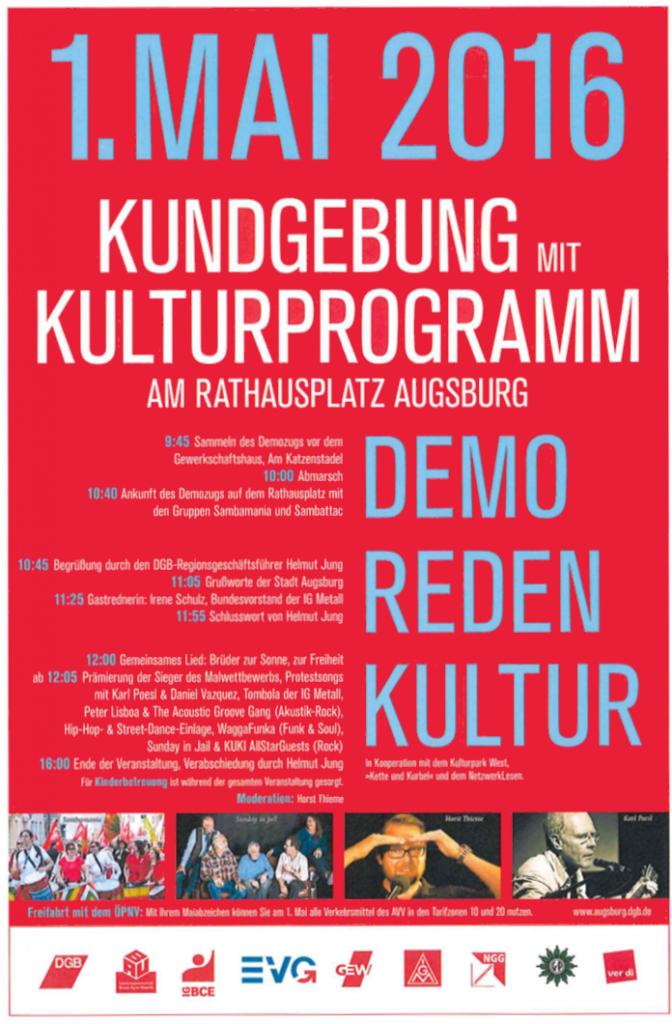 1. Mai 2016 in Augsburg