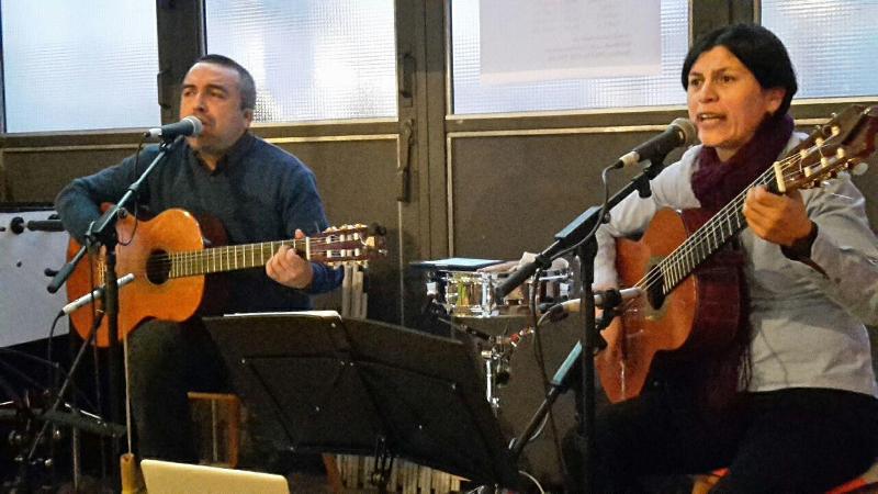 Daniel Osorio und Romina Tovar am 4.12.2016 in Augsburg
