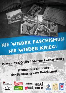Straßenfest zum Tag der Befreiung: 13. Mai, 12 Uhr, Martin-Luther-Platz, Augsburg