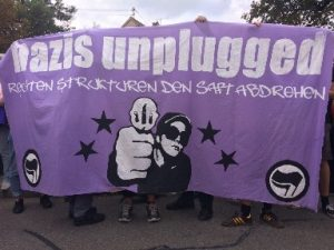 Protest am 15.09.2018 in Kissing. Foto: RedGlobe