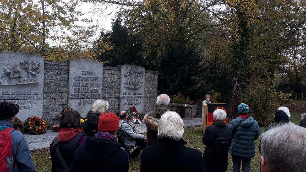 Gedenken auf dem Augsburger Westfriedhof. Foto: CS