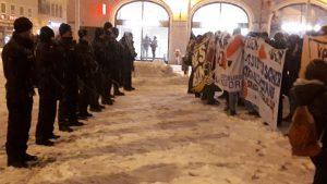 Protest gegen die AfD in Augsburg, 3.2.2019. Foto: scha