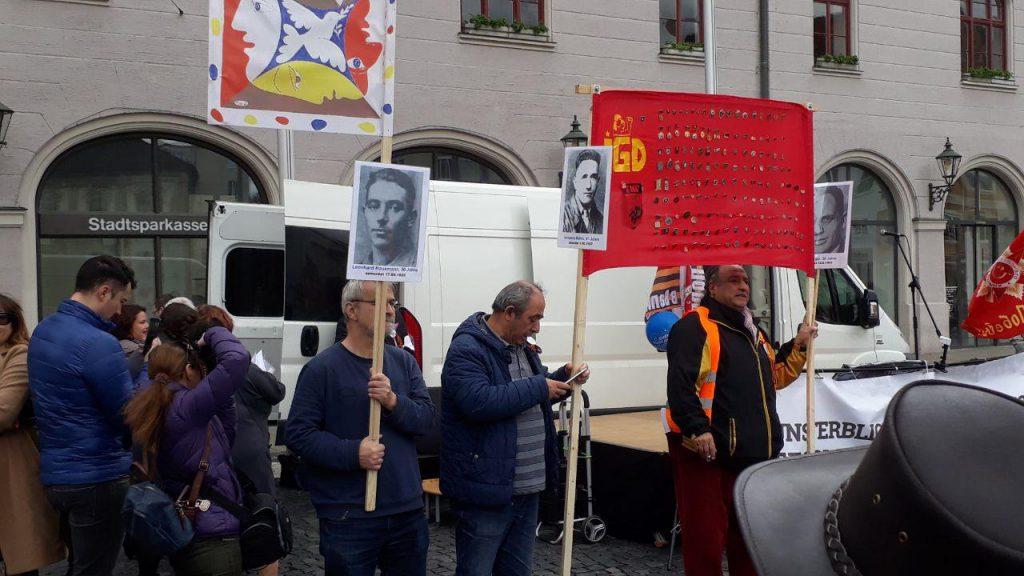 Gedenken auch an deutsche Antifaschisten. Foto: HBZ