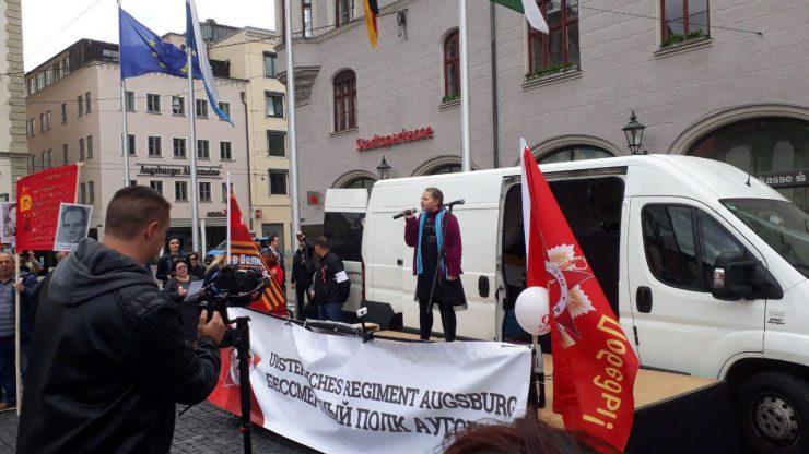 Kundgebung auf dem Rathausplatz. Foto: HBZ